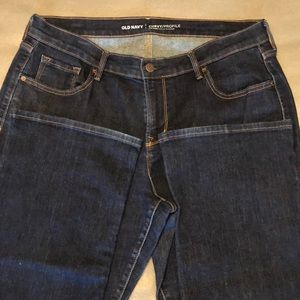 Old Navy Curvy Profile Mid-Rise jeans.